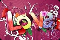Chữ Love Đầy Màu Sắc Mẫu Nền Thư