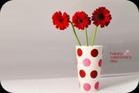 Hoa Đỏ Cho Ngày Tình Yêu Mẫu Nền Thư