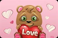 Gấu Nhỏ Yêu Ai Đó Mẫu Nền Thư