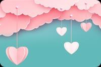 Mây Hồng Yêu Nhau Đi Mẫu Nền Thư