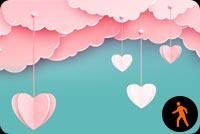 Ảnh Động Mây Hồng Yêu Nhau Đi Mẫu Nền Thư