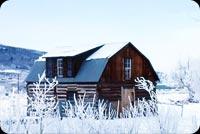 Ngôi Nhà Trong Tuyết Mẫu Nền Thư