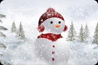 Người Tuyết Đứng Nhìn Xa Xăm Mẫu Nền Thư