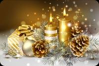 Nến Noel Ấm Cúng Mẫu Nền Thư