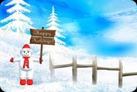 Người Tuyết Cầm Bảng Happy Holidays Mẫu Nền Thư