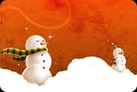 Hai Chú Người Tuyết Mẫu Nền Thư