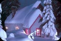 Tuyết Phủ Mái Nhà Tôi Mẫu Nền Thư